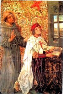 Álvaro de Luna, con la capa y la crus de la Orden de Santiago.