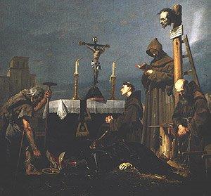 Ejecución de don Álvaro de Luna. Rodríguez de Losada. Museo del Prado.
