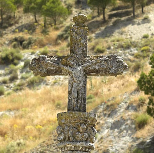 Detalle de la parte superior de la cruz del pelícano.