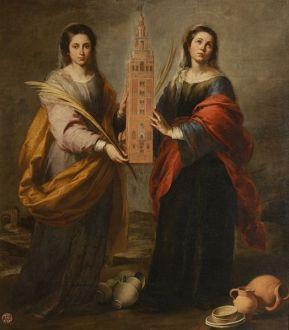 Santas y vírgenes, Justa y Rufina, patronas de la alfarería.