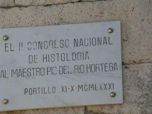 Placa de homenaje a D. Pío del Río Hortega.