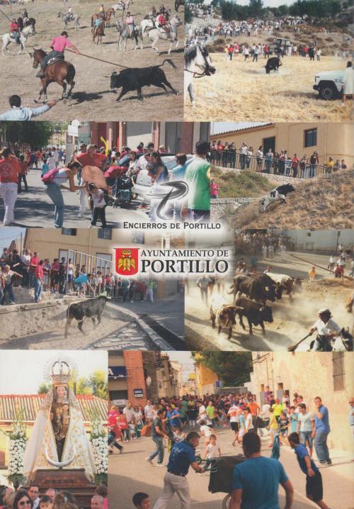 Imagen correspondiente a la contraportada del programa de fiestas de Portillo, año 2014.
