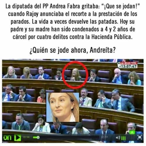Andrea Fabra y su estupidez mediática.