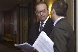 El director general del Fondo de Reestructuración Ordenada Bancaria (FROB), Toñín Carrascosa, ayer en Valaldolid.