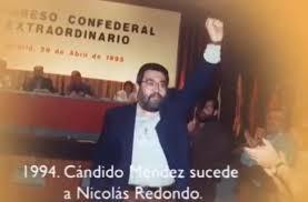 Momento en el que Cándido Méndez sucede a Nicolás Redondo.
