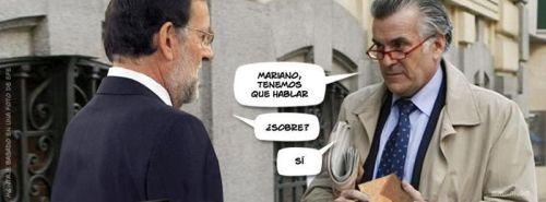 Luis Bárcenas y Mariano Rajoy en temas de sobres.