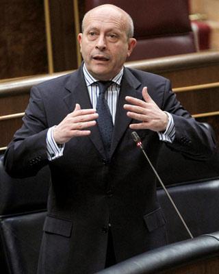 José Ignacio Wert. ministro de Educación, Cultura y Deporte del Gobierno Rajoy.