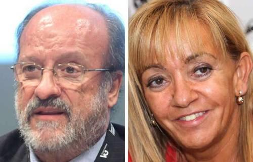 Francisco J. León de la Riva (alcalde de Valladolid) e Isabel Carrasco (presidenta de Diputación de León)