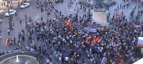 Foto de la manifestación por la lucha republicana... 200 pelagatos sin photoshop...anda qué.