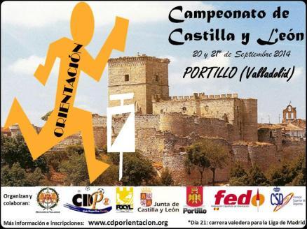Cartel anunciador del Campeonato regional de Orientación en PORTILLO.