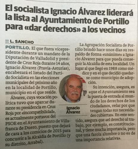 Alcalde PSOE-Portillo