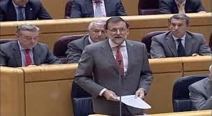 Mariano Rajoy, pidiendo perdón en el Senado, ante las 'avalanchas' incontroladas de corrupción en su partido.