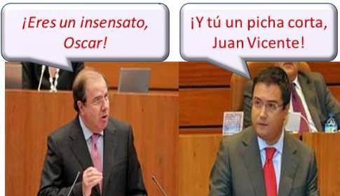 Juanvi y Oscar López en una de sus múltiples discusiones