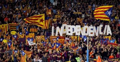 Grupos de cafres en una manifestación en Cataluña.