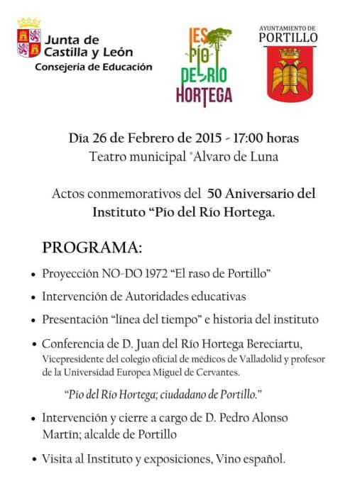 Programa del 50 Aniversario del IES de Portillo
