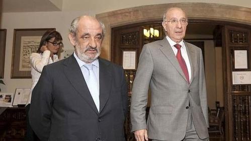 """Santos Llamas y Julio Fermoso, dos insaciables  """"buitres leonados"""" de Caja España y Caja duero."""