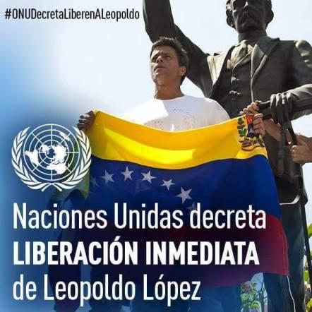 Ante los informes recibidos, la ONU decreta la liberación de Leopoldo López