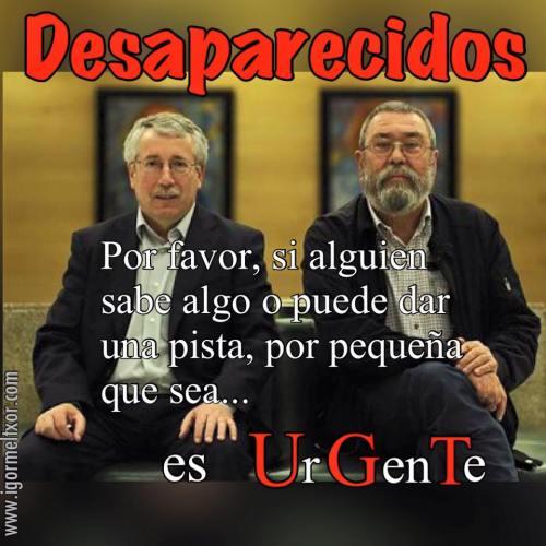 Tocho y Mamotreto, fraudulentos 'líderes de los sindicatos clasistas.
