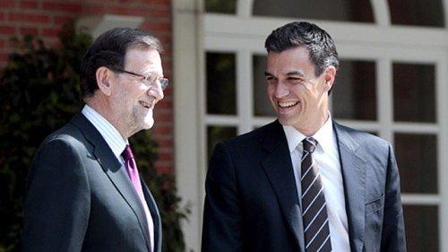 Mariano Rajoy y Pedro Sánchez en un intento de llegar a algún acuerdo.