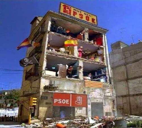 Fiel imagen del socialismo a la española, capaz de arruinar al país cuantas veces toca poder.