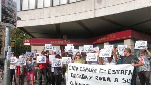 Caja España en su época de fraudulenta y trapacera.