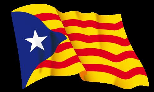 Bandera independentista que airea el sector más cutre de la sociedad catalana.
