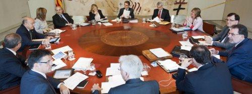 Reunión del Gobierno de la Generalidad catalana.