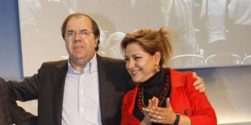 Juan Vicente Herrera, presidente de CyL, y Rosa Valdeón Santiago, consejera de empleo, vicepresidenta y portavoz de la Junta.