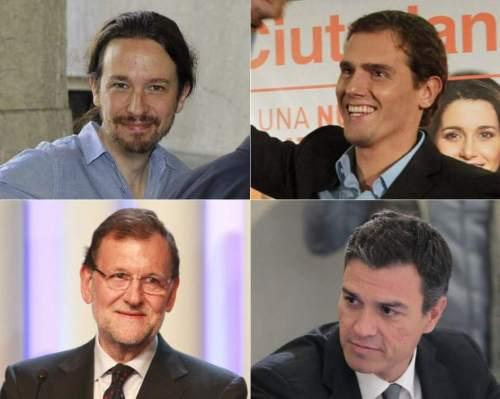 Líderes políticos sobre los que recae la estrategia para formar Gobierno en España.