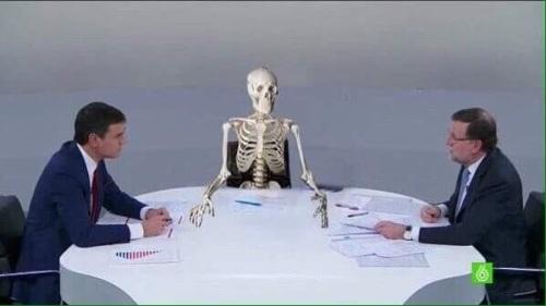 Imagen alegórica del debate entre Pedro Sánchez y Mariano Rajoy.