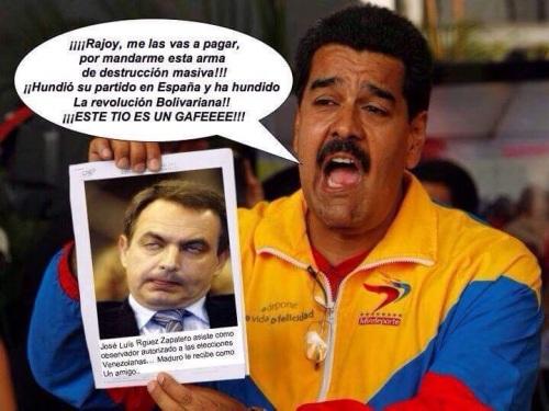 Nicolás Maduro, presidente de Venezuela, con el mayor gafe d ela Historia de España, ZParo.