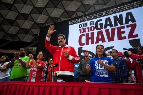 Nicolás Maduro, presidente bolivariano de la agotada Venezuela y líder socialista d ela corrupción, la droga y el asesinato en ese país sudamericano.