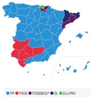 Panorama nacional tras el recuento de votos del 20D