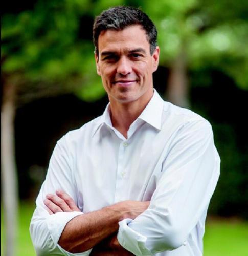 Pedro Sánchez, cabeza de lista del PSOE, colaborador de Podemos e implicado en el caso de corrupción de Bankia.