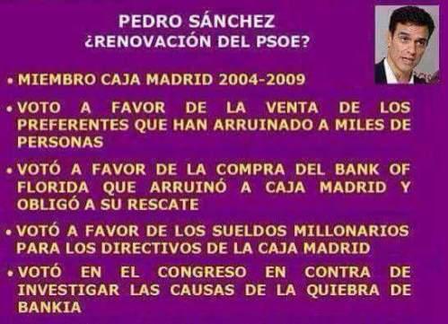 Pedro Sánchez y su utilización de la política para provecho propio.