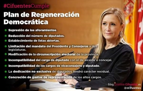 Cifuentes, presidenta de la comunidad de Madrid.