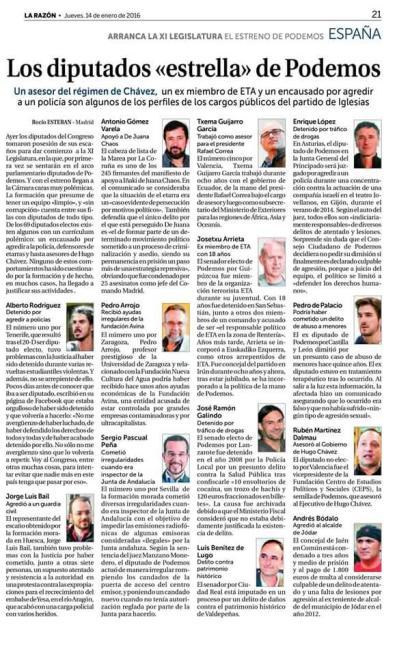 """""""Podemos"""" presenta en sus listas despojos sociales, bandidos, corruptos, meonas, pederastas,..."""