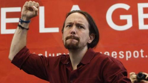"""Pablo Iglesias, líder de la formación radical y siniestra de """"Podemos"""""""