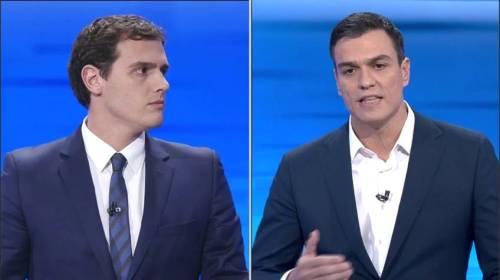 Alberto Rivera (C's) y Pedro Sánchez (PSOE)