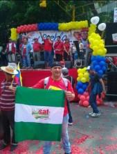 Andrés Bódalo, en un acto de la dictadura chavista bolivariana, en Venezuela, año 2012.