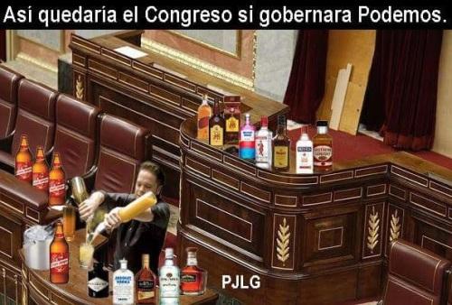Ya nadie duda de qué tipo de gente ha aterrizado en 'Podemos', por eso presentamos cómo quedaría el Congreso si llegan al Gobierno de la nación.