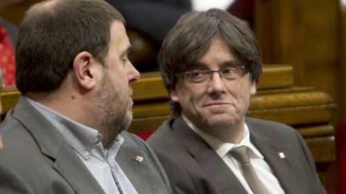 Puigdemon y Junqueras,  dos 'malabaristas' políticos de muy bajo perfil.