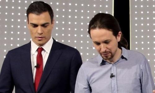 El siniestro socialista, Pedro Sánchez, con el proterrorista, Pablo Manuel.
