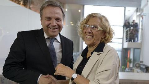 Manuela Carmena y Antonio Carmona