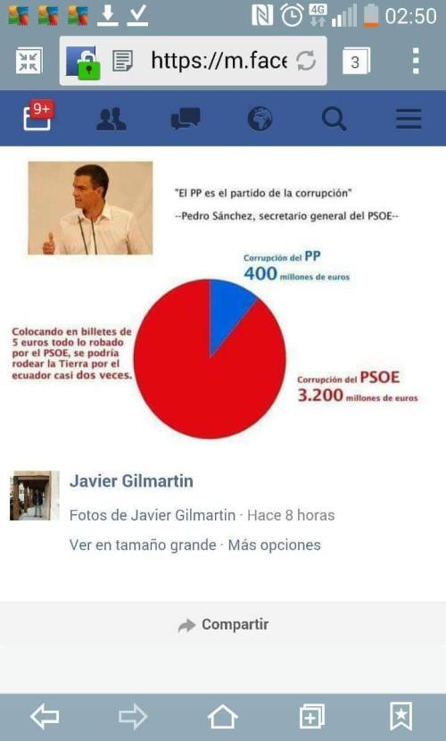 Corrupción que atenaza al PSOE con el silencio de la Secta, Cuatro y otros mediocres de la información.