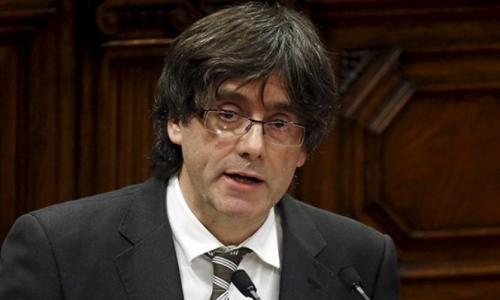 Carlos Puigdemont, presidente de la Generalidad catalana