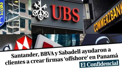 Bancos españoles ayudaron a clientes privilegiados a crear cuentas opacas (offshore) en Panamá.