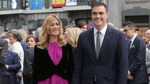 Pedro Sánchez con Begoña Fernández, su compañera y principal responsable de la ambiciosa inclinación del falso líder socialista.