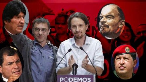 Manuel Pablo y Monedero rodeados de líderes miserables que han llevado a sus pueblos a la miseria, al caos económico y a la pobreza total.