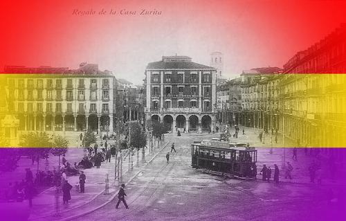 Imagen de la Plaza Mayor de Valladolid en 1931.
